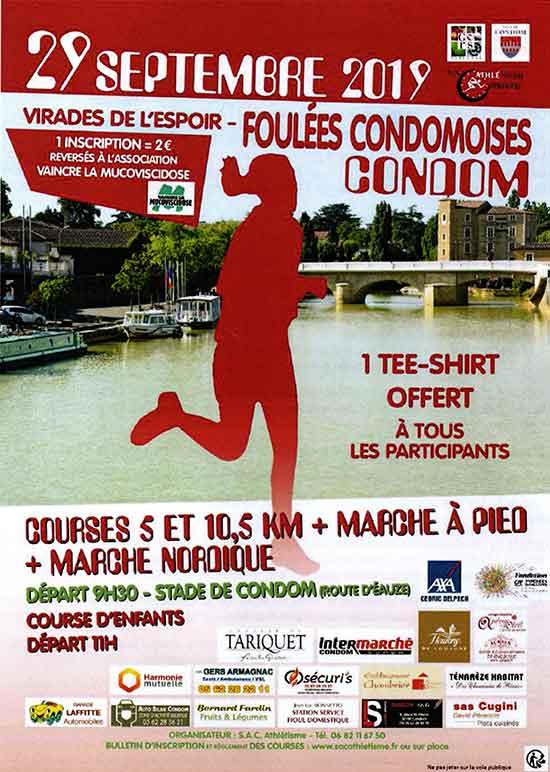 affiche-foulees-condom-2019